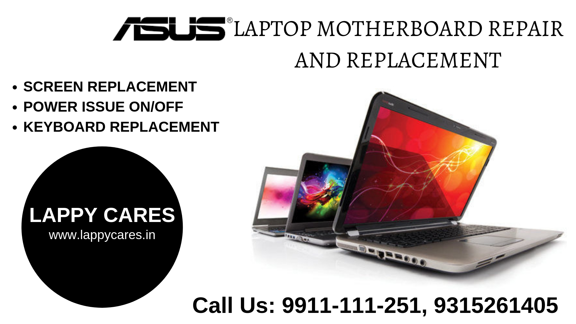 Asus Laptop Service center in Dwarka 9953091251 in New Delhi