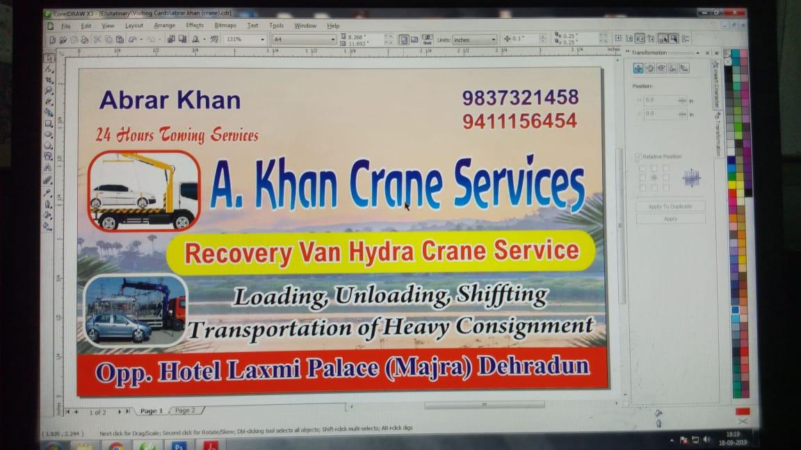 A khan crane service in Dehradun