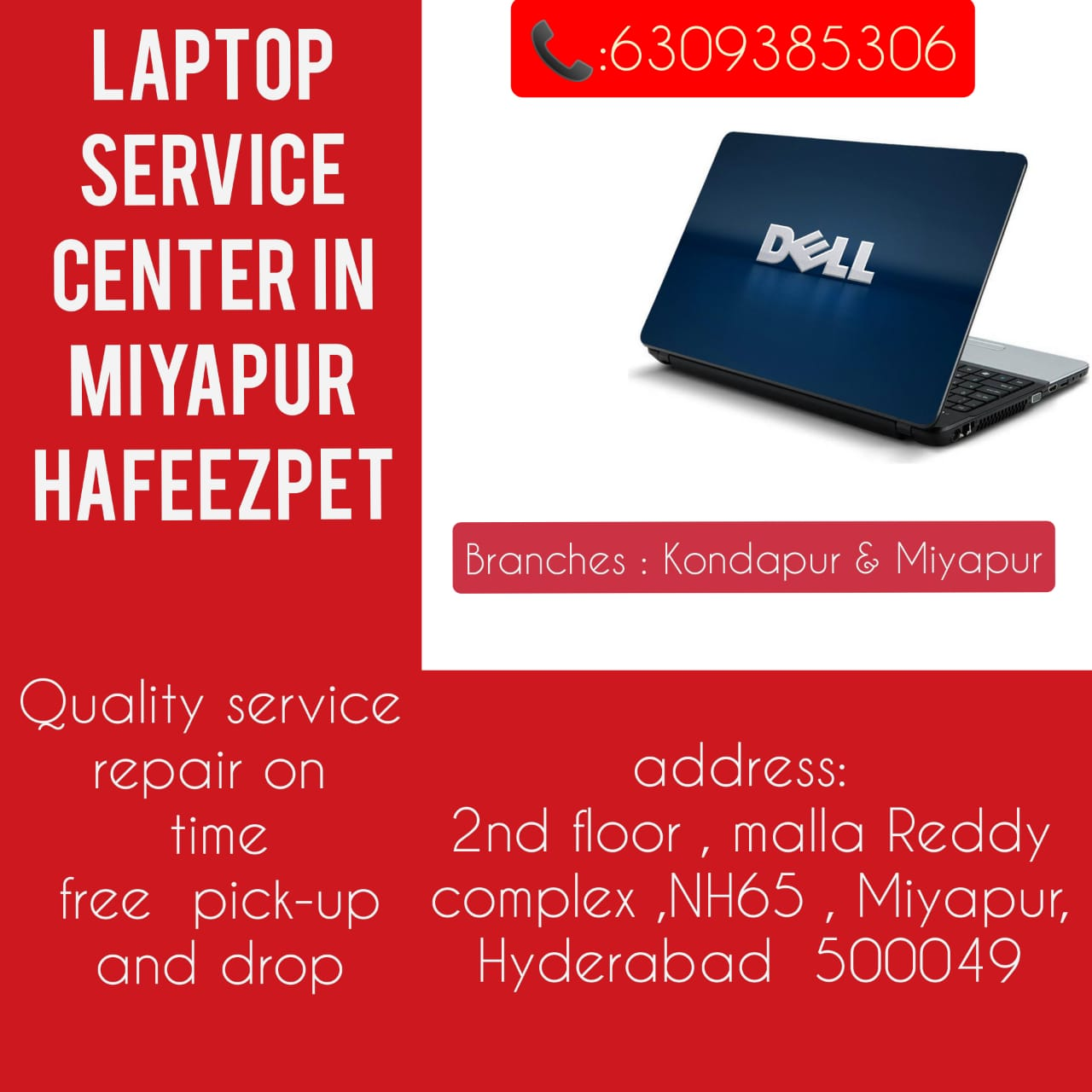 Dell Laptop Service Center In Hyderabad in Adilabad