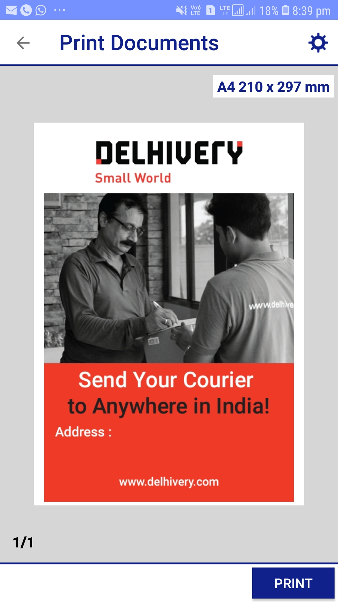Delhivery Courier Cargo Services